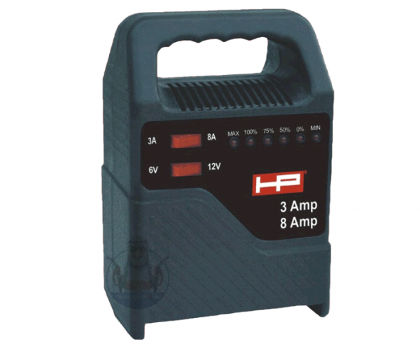 Ladegerät 8 Amp. 6 + 12 Volt